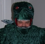 Early field test of the Godzilla costume, 2008 New Ideas production